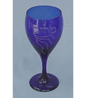 BLUE GLASS MIRIAM'S CUP