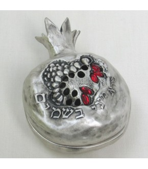 PEWTER POMEGRANATE SPICE BOX