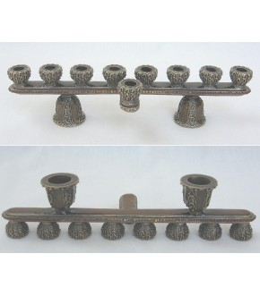 DUO SHABBAT CANDLEHOLDER AND MENORAH